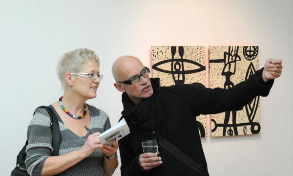 Gespräch bei der Ausstellung in der Städtischen Galerie Tuttlingen