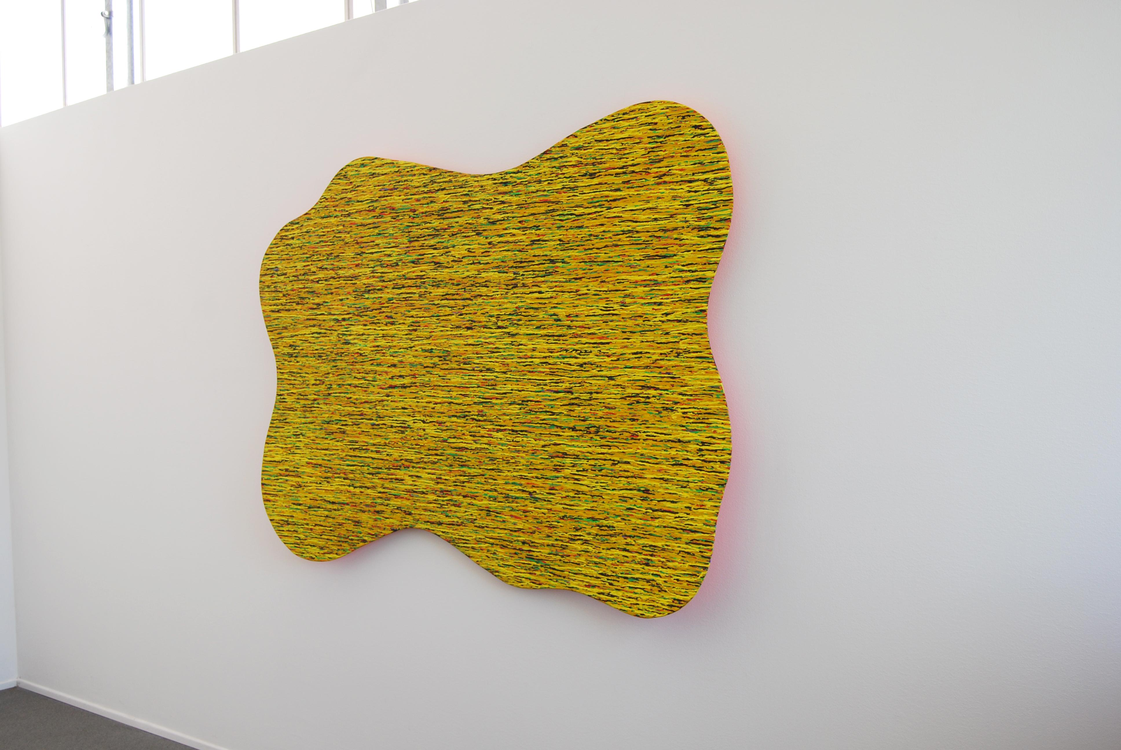 gr.Gelb, Mischtechnik auf Holz, 170 x 140, 2002